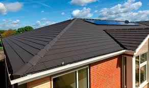 Flat Tile Roof Roof Tile Concrete Slate Look Large Edgemere