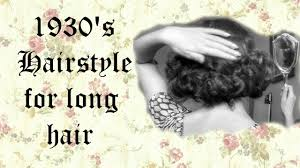 1930 u0027s hairstyle for long hair youtube