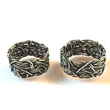 christian wedding bands 10mm crown of thorns christian wedding rings his and hers