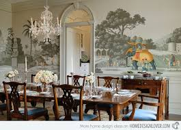 Wallpaper For Dining Room by 20 Conventional Dining Rooms With Wallpaper Murals Home Design Lover
