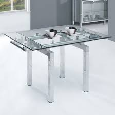 Amazing Expandable Glass Dining Room Tables H On Home Design - Glass dining room table with extension