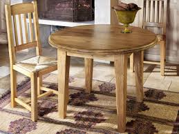 french valley oak dining table round small 105cm diameter