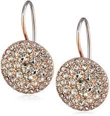 gold disc earrings fossil glitz disc gold tone earrings jewelry