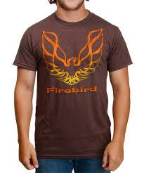 light brown t shirt pontiac firebird logo light brown heather t shirt