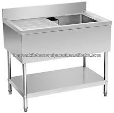 prep table with sink restaurant stainless steel food work prep table with sink on right