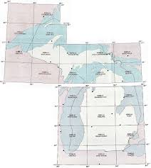 Michigan State Map by Michigan Topographic Index Maps Mi State Usgs Topo Quads 24k