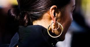 earrings all the way up hoop earring trend 2017