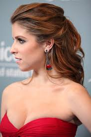 side view of pulled back hair in a bun anna kendrick hairstyles fade haircut