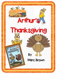 arthur s thanksgiving by marc brown a complete book response journal
