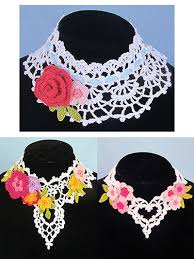 lace necklace patterns images Crochet patterns from annie potter presents jpg