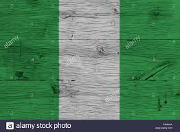 Painting A Flag Nigeria National Flag Painted On Old Oak Wood Painting Is