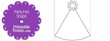 printable party hat shape template u2014 printable treats