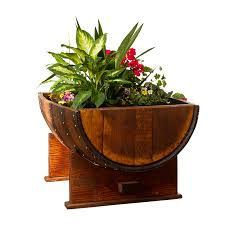 sonoma barrel 1 2 barrel planter wine barrel furniture