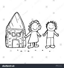 childs drawing hansel gretel stock vector 53209141 shutterstock