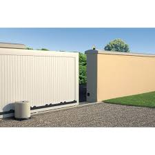 Portail Alu Coulissant Pas Cher by Motorisation De Portail Coulissant Somfy Freevia 300 Leroy Merlin