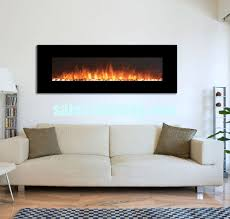 Wall Mounted Electric Fireplace Heater Mounted Electric Fireplace Heater Black Front Led Flame Log Effect