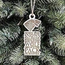game of thrones christmas ornament when the snows fall raw