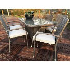 6 seater patio furniture set shedswarehouse com garden furniture marlow flat weave slate