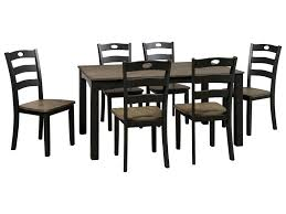 ashley signature design froshburg two tone finish 7 piece dining ashley signature design froshburg two tone finish 7 piece dining room table set johnny janosik dining 7 or more piece sets