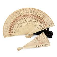 wooden fans new folding wooden carved sunflower fragrant fans