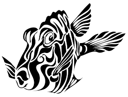 with tribal designs fish with tribal designs look