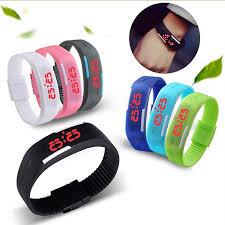 bracelet watches led images Superior unisex digital led wrist watch bracelet free shipping jpg