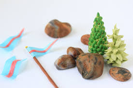 edible rocks how to make edible trees rocks and flags for my 3 d castle