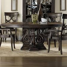 DaValle Round Dining Table With Scroll Pedestal By Hooker - Hooker dining room sets
