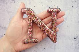 Glitter Home Decor Glitter Letter Y Resin Letter Filled With Glitter Glitter Home