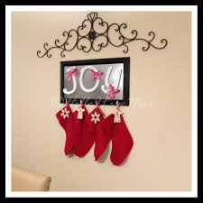 home accessories and decor decorating diy christmas stocking hanger in frame design for