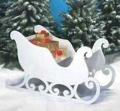 santa sleigh plan celebrate outdoor