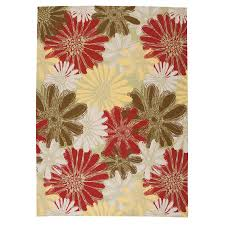 Green And Brown Area Rugs Shop Nourison Home And Garden Green Rectangular Indoor Outdoor