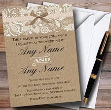 personalized wedding invitations vintage burlap lace personalized wedding