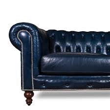 Leather Chesterfields Sofas Luxurious Navy Blue Leather Chesterfield Sofa At Decornyc