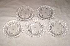Glass Buffet Plates by Crystal Dessert Plates Ebay