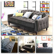 Tufted Sofa Sleeper vintage tufted sofa sleeper bed couch futon furniture living room