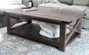 Wooden Coffee Table Plans Free by Delighful Rustic Coffee Table Plans W Planked Top Free Diy To