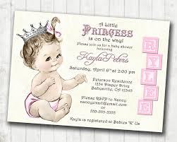 princess theme baby shower invitations reduxsquad com