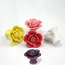 Colorful Kitchen Cabinet Knobs by Various Colors Ceramic Rose Handles Kitchen Cabinet Knobs Handles