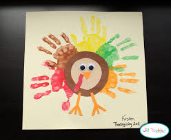 thanksgiving rainbow handprint turkey craft preschool education