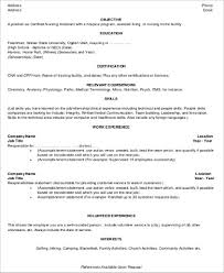 Samples Of Cna Resumes by Cna Resume Objective 6 Examples In Word Pdf
