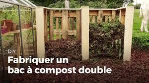 fabriquer un bac à compost double compost diy youtube