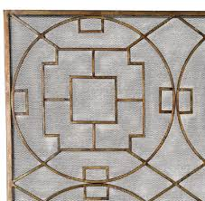 modern french chinese chippendale fireplace screen mesh fire