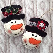 snowman ornaments tree ornaments snowman felt