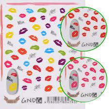 1 29 1 sheet 3d nail art sticker lip love kiss nail decal