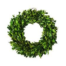 boxwood wreaths preserved boxwood leaves wreath 10 75 smith hawken target