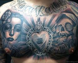 45 portrait tattoos on chest