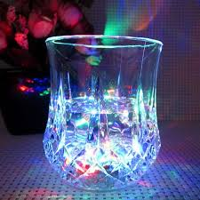 glow in the cups 7oz inductive rainbow color cup mug led glow cups china