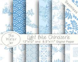 chinoiserie wrapping paper chinoiserie wallpaper china blue digital paper pack