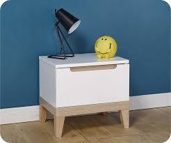 chevet chambre chevet enfant riga blanc et bois mobilier qualité made in